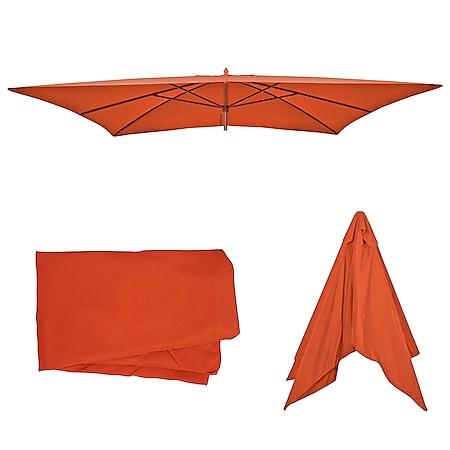 Bezug für Sonnenschirm Lissabon, Sonnenschirmbezug Ersatzbezug, 3x4m Polyester 6kg ~ terrakotta - Bild 1