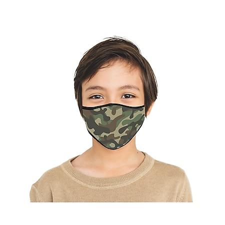 Mund-Nasen-Masen Kids 2er-Set Camouflage/Tec blau/grün - Bild 1