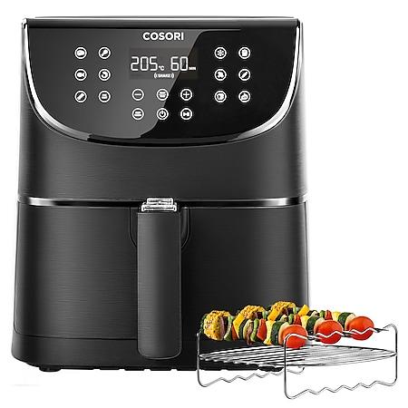 Cosori Premium 5,5-Liter Heißluftfritteuse CP158-AF-RXB mit 5x Spießen und Spießablage Schwarz - Bild 1