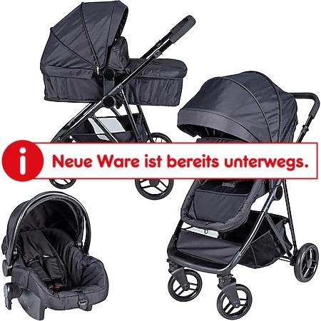 Bebies First Optima 3in1 Kombi-Kinderwagen inkl. Gr. 0 Autobabyschale schwarz - Bild 1