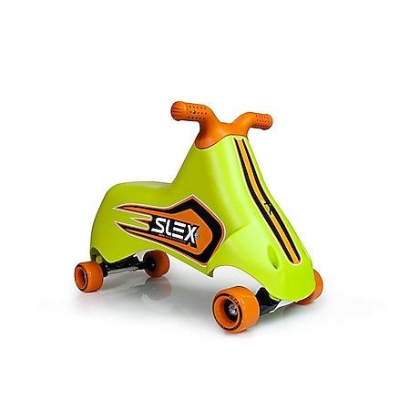 SLEX RACER Rutschfahrzeug in grün Kinder Rutschauto ABEC 3 Longboard Rollen bis 35kg - Bild 1