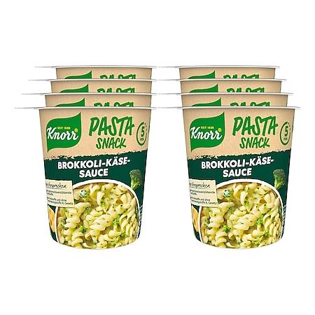 Knorr Snack Becher Pasta in Brokkoli-Käse-Sauce 62 g, 8er Pack - Bild 1
