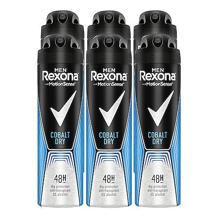 Rexona Deospray Men Cobalt 150 ml, 6er Pack - Bild 1