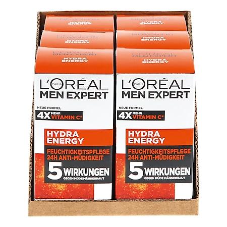 L'Oreal Men Hydra Energy Creme 50 ml, 6er Pack - Bild 1