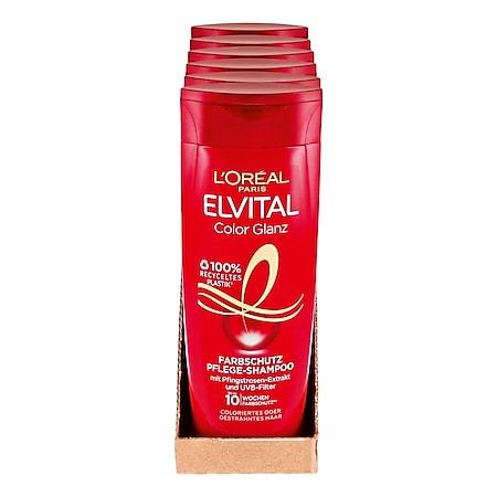 L'Oreal Elvital Spülung Color-Glanz 250 ml, 6er Pack - Bild 1