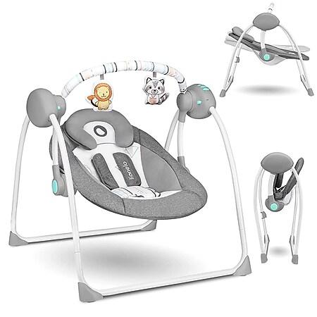 Lionelo Ruben türkis Babyschaukel /Babywippe mit Moskitonetz 0-12 kg - Bild 1