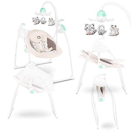 Lionelo Robin braun Babyschaukel mit Spieluhr und Melodien  0-9kg - Bild 1