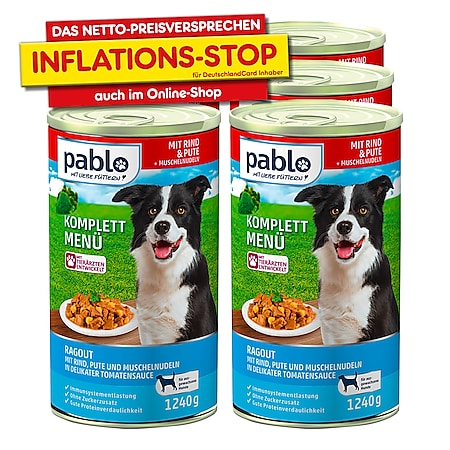 Pablo Hundenahrung Menü Rind 1240 g, 6er Pack - Bild 1