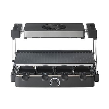 Trebs 15110 - Raclette für 8 Personen mit integriertem Dunstabzug - Große Grillfläche - Bild 1