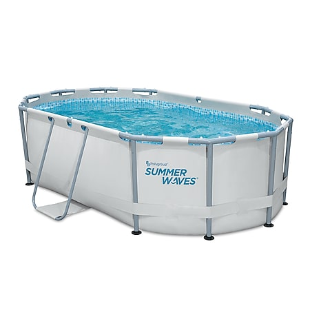 Summer Waves Active Frame Oval Pool 300x200x84 cm lichtgrau - Bild 1