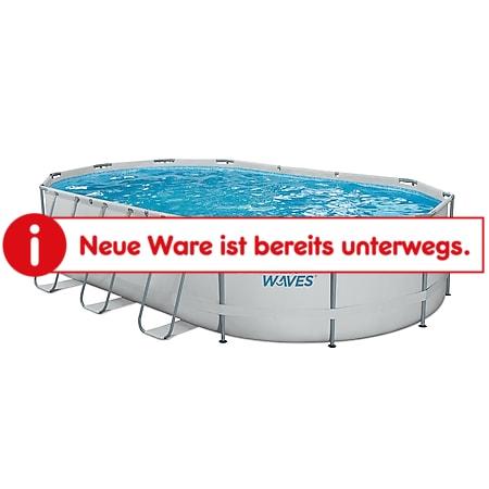 Summer Waves Active Frame Oval Pool 610x366x122 cm lichtgrau - Bild 1
