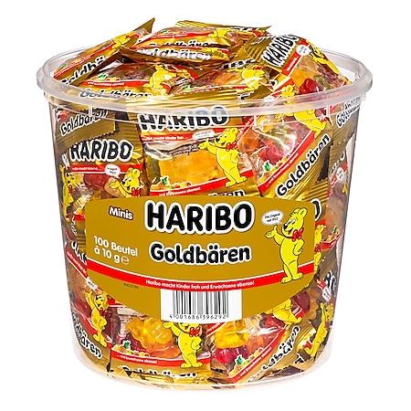 Haribo Goldbären Fruchtgummi Minis - 100 Stück im Eimer, 1kg - Bild 1