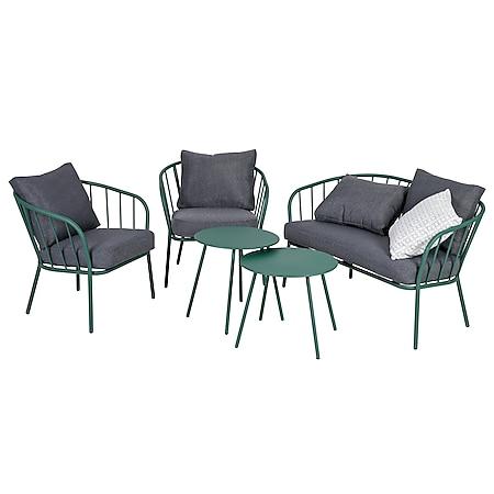 Greemotion Lounge-Set Nizza Stahl, grün - Bild 1