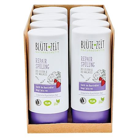 BLÜTE-ZEIT Repair Spülung Bio-Walnuss 200 ml, 8er Pack - Bild 1