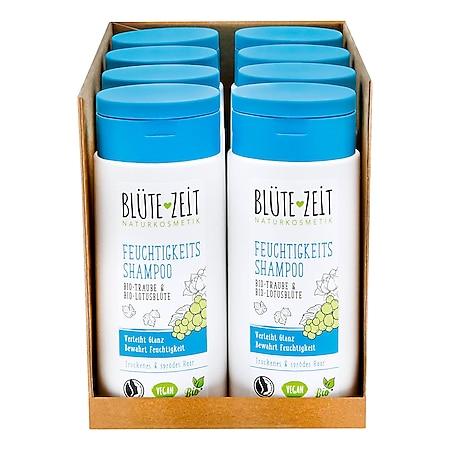 BLÜTE-ZEIT Feuchtigkeits Shampoo Bio-Traube & Bio-Lotusblüte 200 ml, 8er Pack - Bild 1