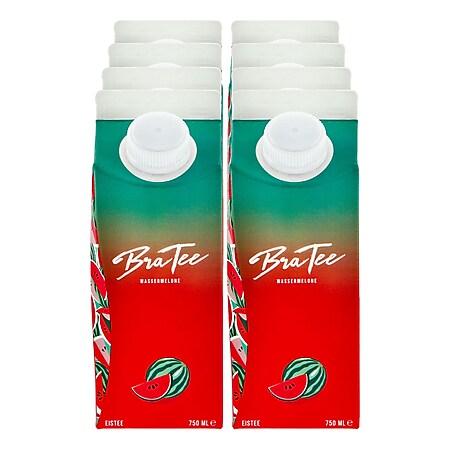 BraTee Eistee mit Wassermelonen Geschmack 0,75 Liter, 8er Pack - Bild 1