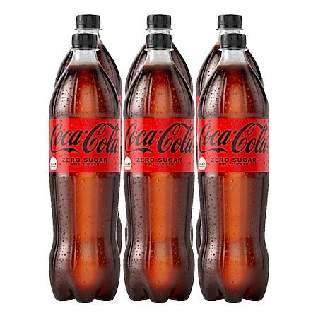 Coca-Cola Zero 1,25 Liter, 6er Pack - Bild 1