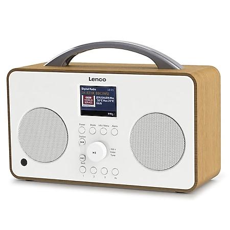 Lenco Internet-Radio PIR-645 mit DAB+/FM Radio, wiederaufladbarem Akku und Bluetooth, weiß - Bild 1