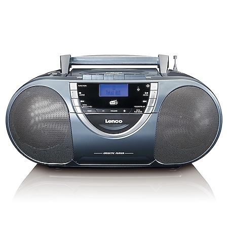 Lenco Tragbares DAB+-Radio SCD-6800GY mit CD, MP3 und Kassettenspieler - Bild 1