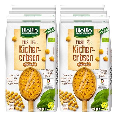 BioBio Fusilli aus Kichererbsen 250 g, 6er Pack - Bild 1