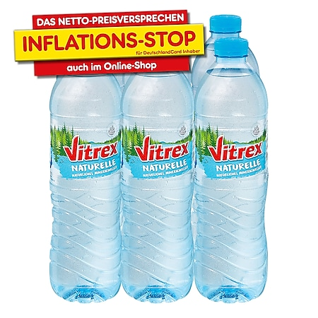 Vitrex Mineralwasser Naturelle 1,5 Liter, 6er Pack - Bild 1
