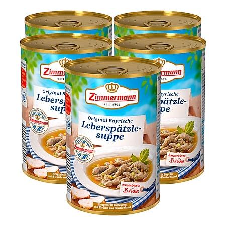 Zimmermann Leberspätzle-Suppe 400 ml, 5er Pack - Bild 1
