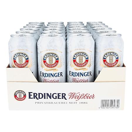 Erdinger Weißbier 5,3 % vol 0,5 Liter Dose, 24er Pack - Bild 1