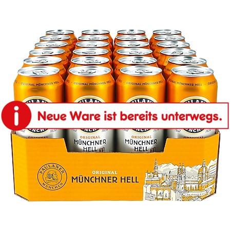 Paulaner Münchner Hell 4,9 % vol 0,5 Liter Dose, 24er Pack - Bild 1