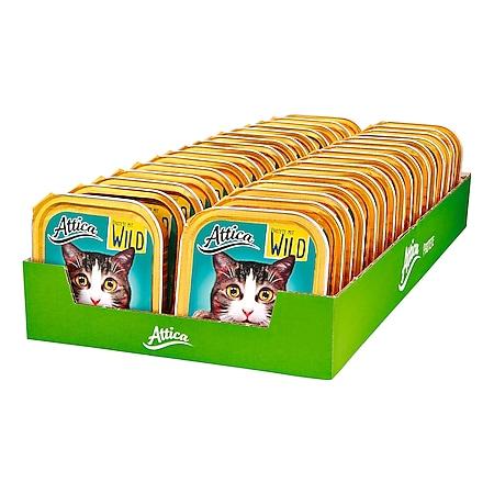 Attica Katzennahrung Pastete Wild 100 g, 32er Pack - Bild 1