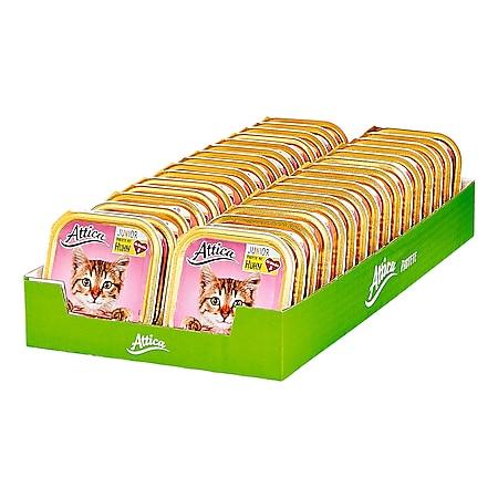 Attica Katzennahrung Junior Huhn 100 g, 32er Pack - Bild 1
