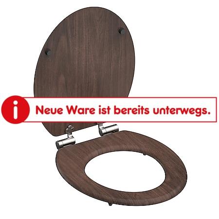 SCHÜTTE WC-Sitz DARK WOOD mit MDF Holzkern und Absenkautomatik - Bild 1