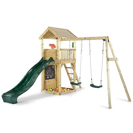 Plum Holz Aussichtsturm mit Doppelschaukel - Bild 1
