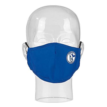 S04 Mund-Nase-Maske blau/weiß - Bild 1