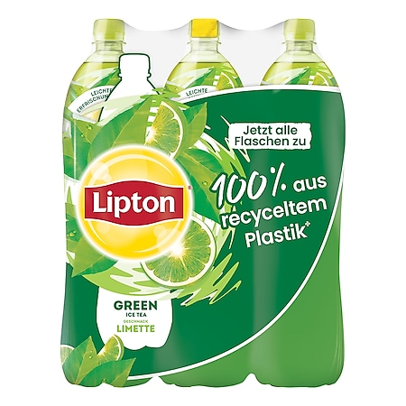 Lipton Eistee Green Limette, 1,5 Liter, 6er Pack - Bild 1