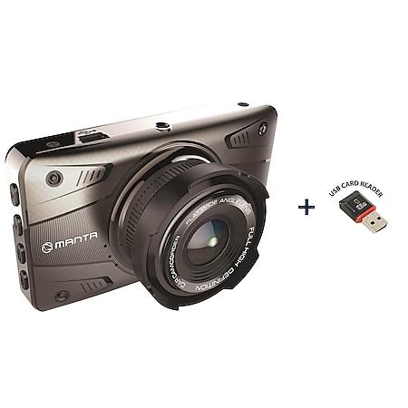 Manta FullHD Auto-Dashcam DVR501F   1080p 3,2 Zoll 2in1 - Bild 1