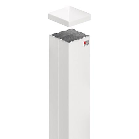 Zaunpfosten 7x7x160cm   weiß - Bild 1