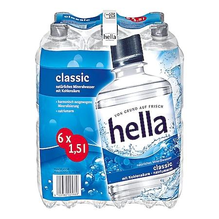 Hella Mineralwasser Classic 1,5 Liter, 6er Pack - Bild 1