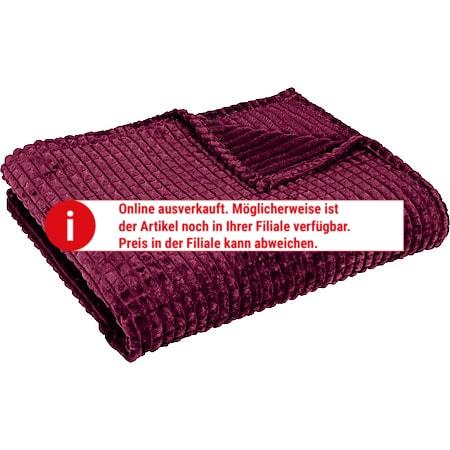 Dekor Wohndecke Waffeloptik - Farbe beere - versch. Farben - Bild 1