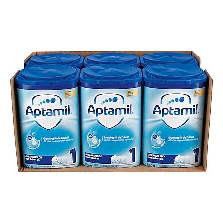 Aptamil Anfangsmilch 1 800 g, 6er Pack - Bild 1