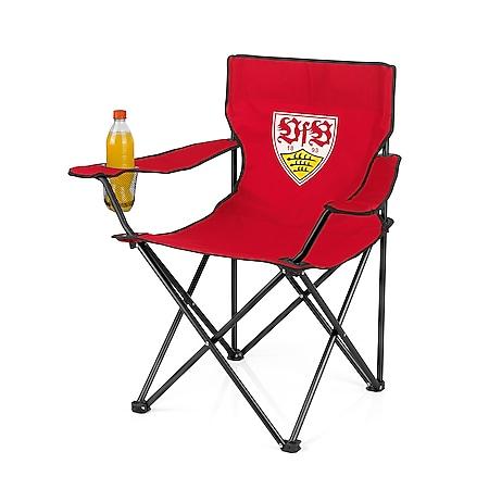 VFB Campingstuhl faltbar 80x50cm rot mit Logo - Bild 1