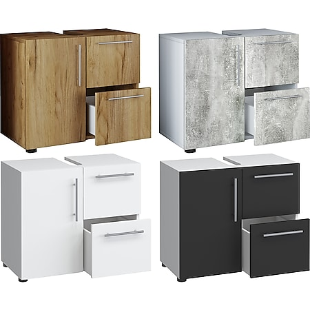 """VCM Bad Unterschrank Waschtisch Waschbeckenunterschrank Badunterschrank Schrank Möbel """"Flandu"""" 51 x 60 x 30 cm Badezimmer Regal - Bild 1"""