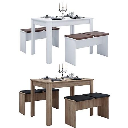"""VCM Tischgruppe Sitzgruppe Essgruppe Holztisch Esstisch Tisch """"Esal XL"""" - Bild 1"""