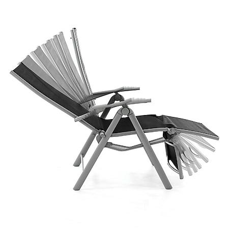 Vcm 2er Set Gartenliege Sonnenliege Liegestuhl Relaxliege Garten Schwarz Online Kaufen Bei Netto