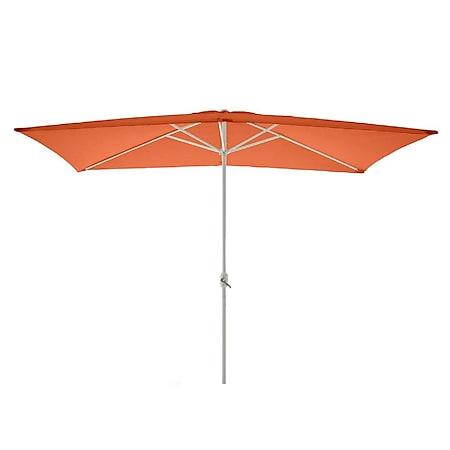VCM Sonnenschirm eckig 2x3m orange Kurbel Marktschirm Rechteckschirm Sonnenschutz - Bild 1
