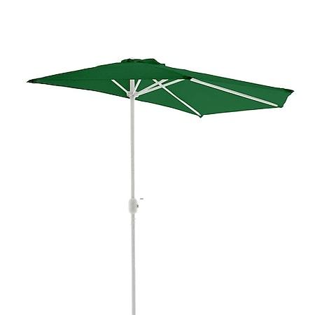 VCM Balkon-Sonnenschirm grün halbrund Gartenschirm Sonnenschutz 2,7m mit Kurbel - Bild 1