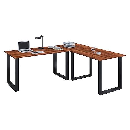 VCM Eckschreibtisch, Schreibtisch, Büromöbel, Computertisch, Winkeltisch, Tisch, Büro, Lona - Bild 1