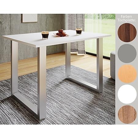 """VCM Premium Esszimmertisch Holztisch Esstisch Tisch """"Xona U"""" - Bild 1"""
