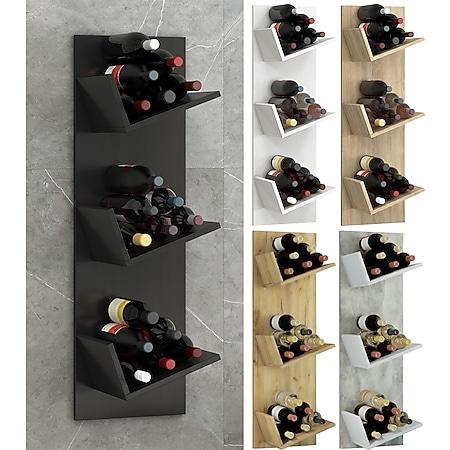 """VCM Regal Weinregal Wandregal Hängeregal Wein Regal Flaschenregal Holz """"Vinosi"""" - Bild 1"""