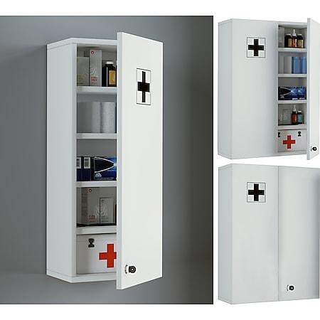 "VCM Medizinschrank Arzneischrank Apothekerschrank Erste Hilfe Hausapotheke Medikamenten Schrank ""Medasa"" - Bild 1"