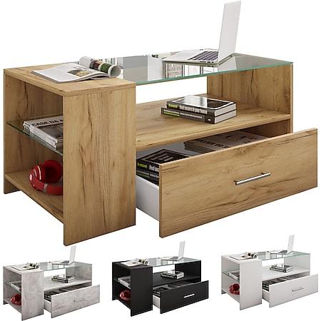 """VCM Couchtisch Sofatisch Wohnzimmertisch Beistelltisch Schublade Wohnzimmer Tisch """"Tindala"""" - Bild 1"""